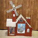 Sunshine Weihnachtsschneehaus + Windmühle, Mit Musik, Schnee, Große Weihnachtsdekoration, Mall Hotel
