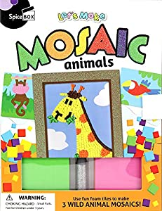 Spice in the Box spicebox sp22195Lets Make It Kit de Manualidades Mosaico Animales