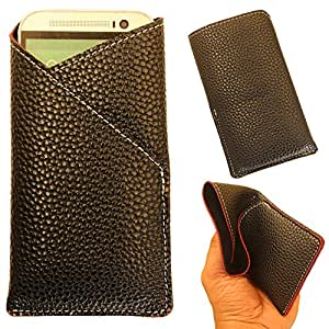 Blu Studio 5.5 - New Stylish Pu Leather Mobile Protector Pouch Cover By eSyon - Black