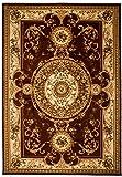 Tapiso YESEMEK Teppich Klassisch Kurzflor Orientalisch Teppiche Floral Ziegler Medaillon Muster in Braun Beige Orientteppich Barock Design Wohnzimmer ÖKOTEX 140 x 190 cm