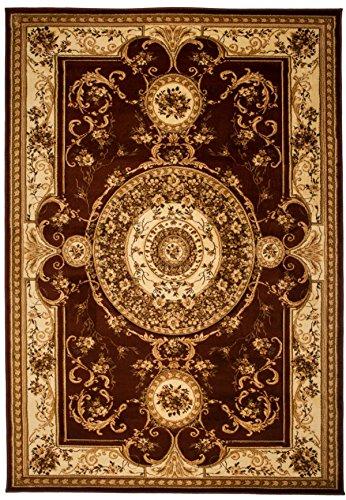 Tapiso YESEMEK Teppich Klassisch Kurzflor Orientalisch Teppiche Floral Ziegler Medaillon Muster in Braun Beige Orientteppich Barock Design Wohnzimmer ÖKOTEX 200 x 300 cm