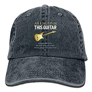 U-Only All I Need is This Guitar Baseball Hat Men and Women Summer Sun Hat Travel Sunscreen Cap Fishing Outdoors