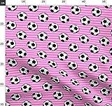 Fußbälle, Rosa, Mädchen, Fußball, Sport Stoffe -
