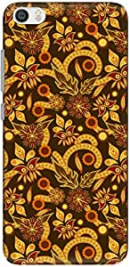 The Racoon Lean printed designer hard back mobile phone case cover for Xiaomi Mi 5. (Ochre Flow)