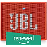 (Renewed) JBL GO Portable Wireless Bluetooth Speaker with Mic (Orange)