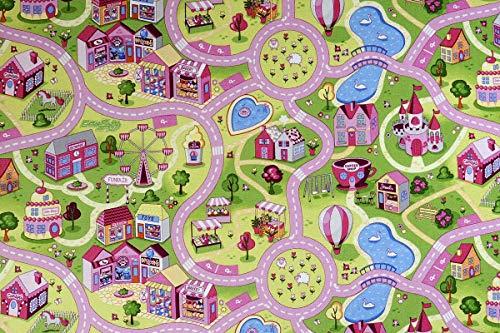 havatex Kinderteppich Candy Town bunt - Spielteppich schadstoffgeprüft pflegeleicht schmutzabweisend strapazierfähig |Kinderzimmer Spielzimmer, Farbe:Multicolor, Größe:160 x 200 cm
