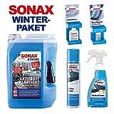 SONAX WINTER-PAKET (XTREME AntiFrost+KlarSicht Konzentrat 5l, ScheibenEnteiser Pumpflasche - 500ml, ScheibenEnteiser Spray - 400ml, GummiPflegeStift - 18g, SONAX SchlossEnteiser - 50ml)