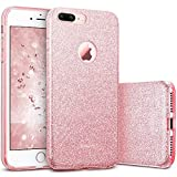 ESR Coque pour iPhone 7 Plus Or Rose, Coque Silicone Paillette Strass...