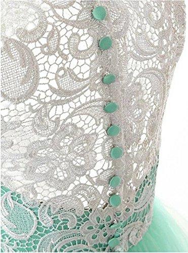 Damen A-Linie Zwei Teile langes Lace Tuell Abendkleid Ballkleid brautjungfer Cocktail Party kleid Hochzeit Kleid Wine