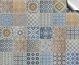 24 stück Fliesenaufkleber für Küche und Bad (Tile Style Decals 24x TP 60 - 6') | verschiedene Mosaik wandfliesen aufkleber für 15x15cm Fliesen | Fliesen-Aufkleber Folie | Deko-Fliesenfolie für Küche u. Bad (15cm - 24 stück, TP60)