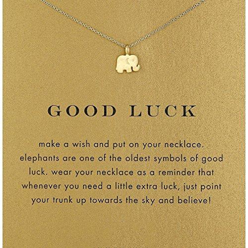 Elistelle Halsketten Für frauen Damen Mit Anhänger Elefanten Muster Gold Gliederkette Kurz Halsband Schmuck
