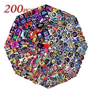 Q-Window Superheld NASA Sticker (200-tlg) Vinyl Aufkleber für Laptop,Wasserflaschen,Gepäck,Skateboard,PS4,Xbox One,Phone,Car Erwachsene,Teenager,Jungen und Mädchen-wasserdicht
