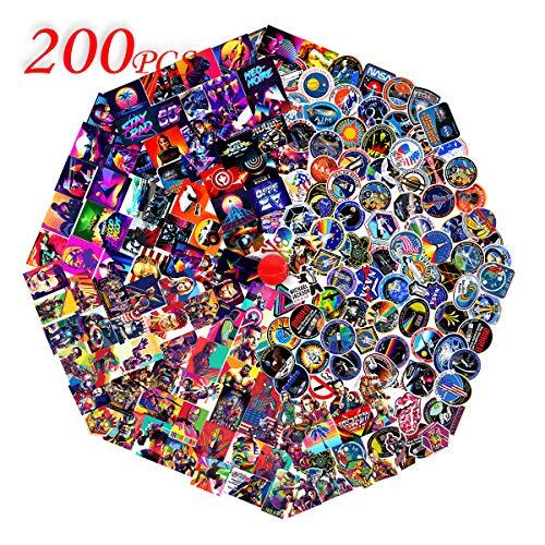 Superhero & NASA & Cool autocollants |200 pcs| Stickers mignons, imperméables, esthétiques et à la mode pour adolescents, filles | Parfait pour la bouteille d'eau, ordinateur portable, phone, voyage