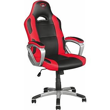 Trust resto gxt 707 chaise bureau gamer noir rouge for Sedia trust