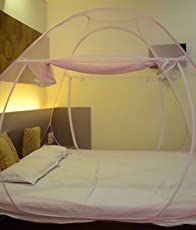 Backbone Foldable Mosquito Net Flexible With 2 Window Zip Door (For Double Bed,King Size Bed, Queen Size )