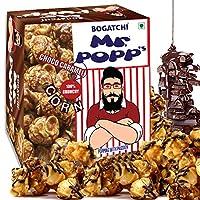 BOGATCHI Mr.POPP's Dark Chocolate Popcorn, 100% Crunchy Handcrafted Gourmet Popcorn Snacks | No Microwave Needed | Best Movie/TV Time Snack, 375g