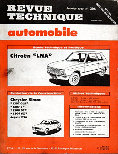 REVUE TECHNIQUE AUTOMOBILE N° 396 CITROEN LNA par E.T.A.I.