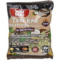 Waiwai Nouilles Instantanées au Lait de Coco Saveur Champignon Tom Kha 90 g -
