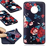 Motorola Moto G5 Case, Coffeetreehouse TPU Silicone Case Ultra Slim Thin Soft Matt Rubber Flexible Lightweight Rubber Durable Back Shockproof Bumper Anti-Scratch Cover Protective Case for Motorola Moto G5 - Roses