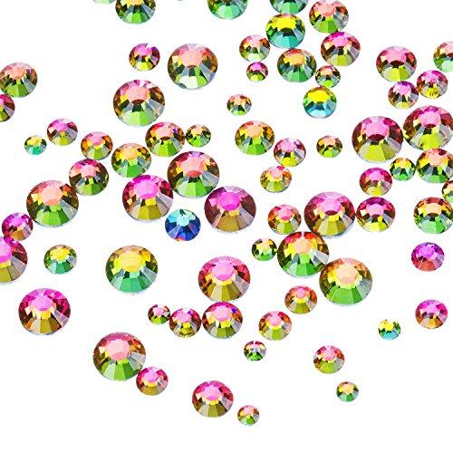 Outus 1000 Piezas Multi AB Color Diamantes de Flatback Espalda Plana G