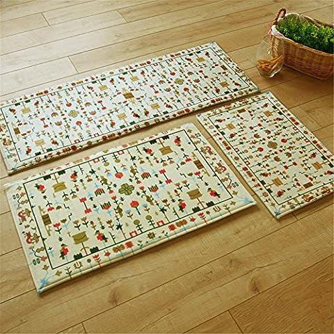 hangnuo antiscivolo/antiscivolo Porta zerbino tappetino assorbente da cucina bagno tappeto tappeto, Rain&Flower, 40*60cm/15.7*19.6inch