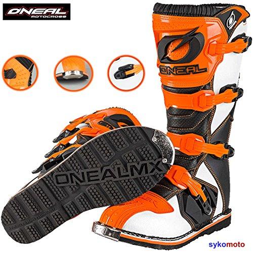 Stivali da Moto Oneal Rider Uomo MX off Road Trail Track Enduro ATV Pit Sport Protezione Stivale da Corsa Arancione (EU 41/UK 7)