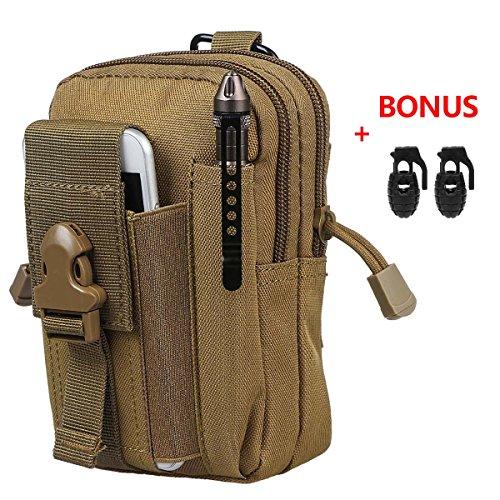 lle Outdoor Groß Kapazität Taktisch Smartphone Halter EDC Carry Zubehör Taillepäckchen Tasche Hülle mit Gürtel Schlaufe & Gurtschloss für Zubehör ()
