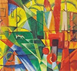 Franz Marc – Amt Landschaft mit Haus Hund und Rind Vintage Fine Art Print, Up to 594mm by 841mm or 23.4