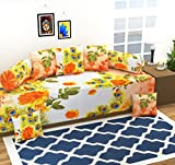 AEROHAVEN™ 3D Luxury 180 TC Designer Printed 8Pc Diwan Set(1 Single Bedsheet, 2 Bolster Covers, 5 Cushion Covers)