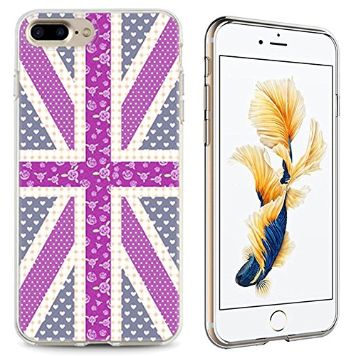 Panelize iPhone 7 Plus Country Hülle Schutzhülle Handyhülle Hard Case Cover Kratzfest Rutschfest Durchsichtig Klar (Country Eifelturm) Country England