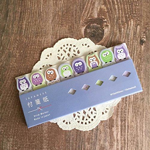 Japanische Sticky Notes Register–Stick Marker–Eulen–Selbst Stick Note (Japanische Haftnotizen)