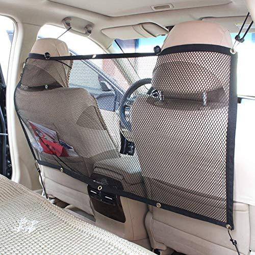 Maran Auto-Sicherheitsnetz für Haustiere - Auto-Sicherheitsnetz Schrägheck, Barriere-Schutz, 115 x 62 cm, Universal-Auto-Haustier-Hunde-Kindernetz, mit Haken und Gurten