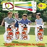 Twister.CK Halloween Party Games, Pumpkin Design Sack Race Bags, Egg...