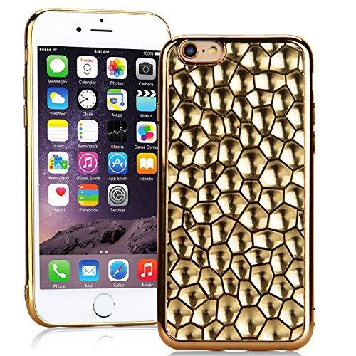 SMARTLEGEND Silicone Morbido Cover Per iPhone 6, Anti-Graffio TPU Case Cover, Placcatura Design Ultra Glitter Protettiva Guscio Protettivo, Anti-Shock Soft Cover, Durevole Soft Case - Rose Gold Oro