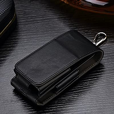 Black Electronic Cigarette Protective Holder Cigar Cover iQOS Wallet Case for IQOSHolder Portable Leather e-cig Box Bag Shell Anti Scratch Professional Travel Carry Case Pouch for Electric Cigarette Kit from JOMA-E Shop