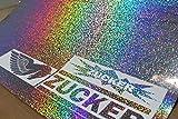 (27,52/m²) Plotterfolie Metall Flakes Silver Oilslick Auto Klebe Effekt Folie von Finest-Folia Hologramm