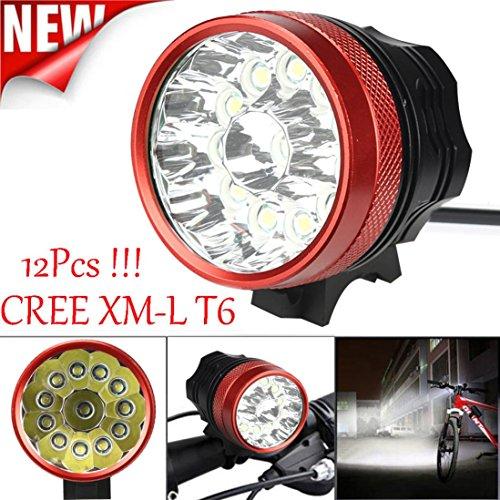 Preisvergleich Produktbild Fahrrad Lampe, bbring 30000lm 12x XM-L T6LED Fahrrad Licht Wasserdicht Lampe