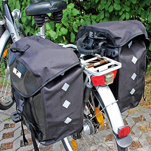 2x Red Loon Pro Packtasche Fahrradtasche Gepäckträgertasche LKW-Plane wasserdicht Schwarz/Schwarz