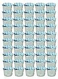 Set da 50 vasetti in vetro, per marmellate e conserve, 230 ml, coperchio avvitabile a quadretti blu, 82 mm