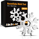 Hinshark Regali Natale -18-in-1 Multi-Tool Snowflake, Multi Attrezzo in Acciaio Portatile, Idee Regalo Natale, 2020 Gadget Id