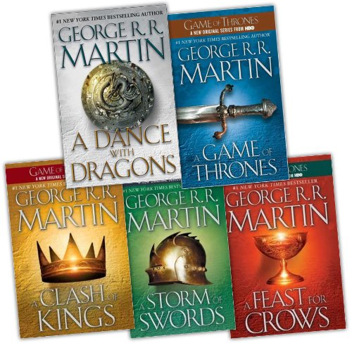George R. R. Martin Song of Ice and Fire 5 Books Collection Pack Set RRP: £60.96 (A Dance With Dragons (HardCover), A Storm of Swords, A Feast for Crows, A Clash of Kings, A Game of Thrones)