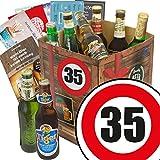 Bier Geschenk 35. Geburtstag   Bierbox   Bier Geschenkidee   Bier Geschenk mit 9 Bieren aus aller Welt   mit Bier - Bewertungsbogen und 6 Geschenk Karten   Bier Geschenke für Männer zum 35. 35 Geburtstag Geschenk Ideen