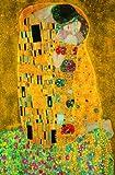 Kiss, poster gigante The Kiss Photo, murale, poster da parete, grande formato, 115 x 175 cm, pittura, bacio, persone, artista, Gustav Klimt, uomo, donna, by Kiss