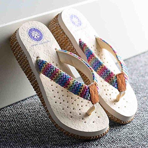 Cailin Sandals, Pantoufles de mode d'été Chaussons de patins épais Chaussons de plage pour 18-40ans ( Couleur : #1 , taille : EU39/UK6/CN39 ) #2