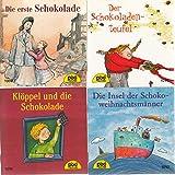 4 Pixi-Bücher aus Serie 119: Nr. 1009 Die erste Schokolade; 1010 Der Schokoladenteufel; 1011 Klöppel und die Schokolade; 1012 Die Insel der Schokoladenweihnachtsmänner.