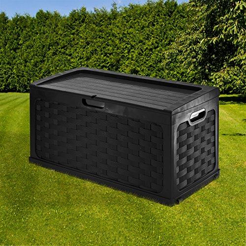 DEMA Kissenbox'Rattan' schwarz 270 Liter