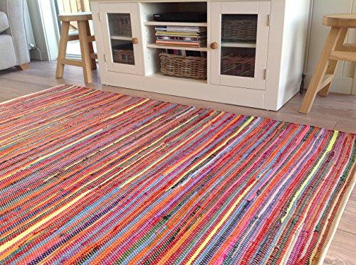 Wunderschöne Second Nature, umweltfreundlich, mehrfarbig Jahre Chindi Flickenteppich-wählen Sie aus über zwölf verschiedene Größen, baumwolle, multi, 150cm x 240cm (Rag Rug)