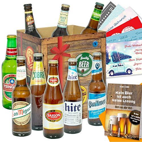 """Bier Geschenke""""Welt & Deutschland"""" Geschenkboxen mit Bier"""
