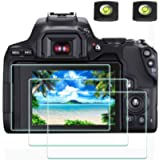 EOS 250D Screen Protector Appliable for Canon EOS 250D DSLR Camera & Hot Shoe Cover [2+3Pack],ULBTER 0.3mm 9H Hardness…