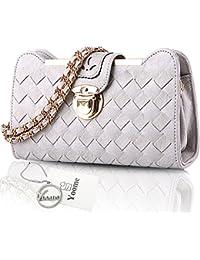 Bolsos de la universidad del bolso de la pequeña bolsa tejida de Yoome para las muchachas Bolsos de la cadena con estilo para las bolsas de monedero de las mujeres